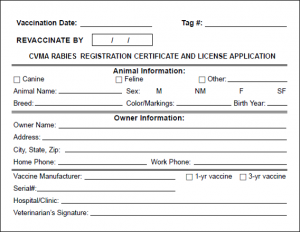 Certificate of vaccination sample image collections for Rabies vaccine certificate template